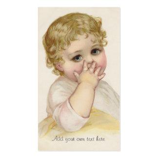 Illustration de cru du baiser du beau bébé carte de visite standard