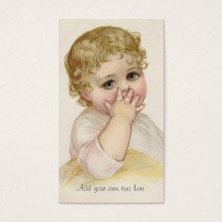 Illustration de cru du baiser du beau bébé cartes de visite