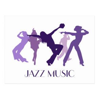 Illustration de danseurs de jazz cartes postales
