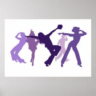 Illustration de danseurs de jazz posters