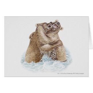 Illustration de deux ours de Brown combattant dans Cartes