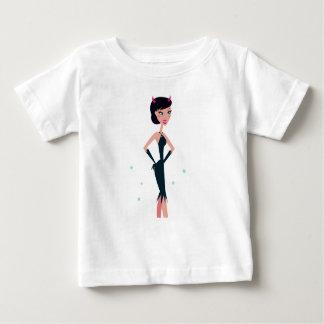 Illustration de fille de SORCIÈRE : fille foncée T-shirt Pour Bébé