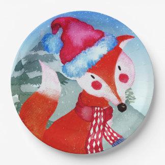 Illustration de Fox d'amis de région boisée de Assiettes En Papier