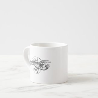 Illustration de homard tasse expresso