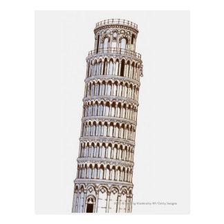 Illustration de la tour de Pise Carte Postale