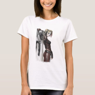 Illustration de la ville | Harley Quinn de Batman T-shirt