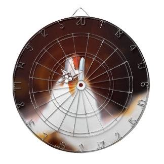 Illustration de lancement de nuit de navette jeux de fléchettes