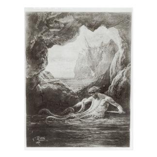 Illustration de 'Les Travailleurs de la Mer' Carte Postale