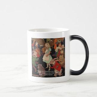 Illustration de Lewis Carroll et citation de Tasse À Café