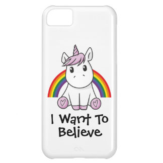Illustration de licorne (texte personnalisable) coque iPhone 5C