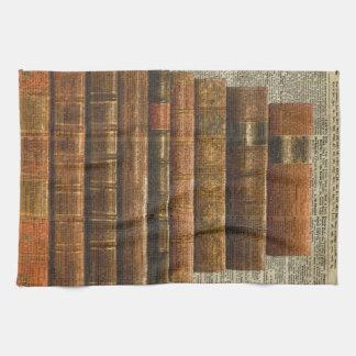 Illustration de livres antique au-dessus de page serviette éponge