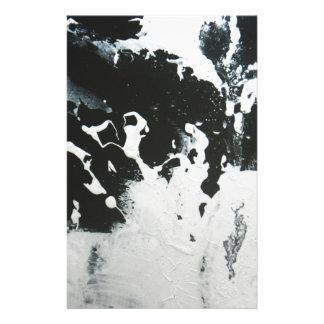 Illustration de marbre abstraite noire et de blanc papeterie