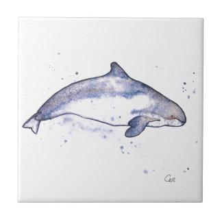 Illustration de marsouin petit carreau carré