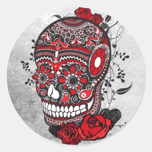 Illustration de Mexicain de conception de tatouage Adhésif Rond