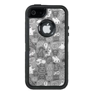 illustration de motif de griffonnages coque OtterBox iPhone 5, 5s et SE