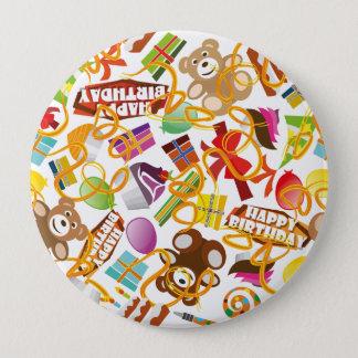 Illustration de motif de joyeux anniversaire badge