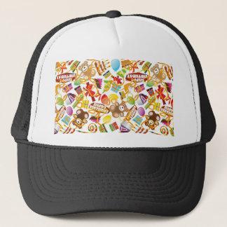 Illustration de motif de joyeux anniversaire casquette