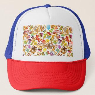 Illustration de motif de joyeux anniversaire casquettes