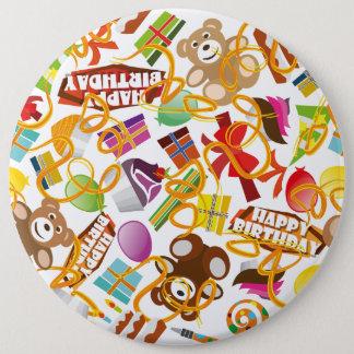 Illustration de motif de joyeux anniversaire pin's