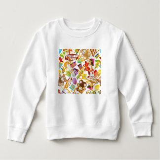 Illustration de motif de joyeux anniversaire sweatshirt
