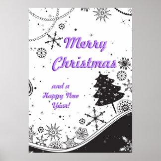 Illustration de Noël de flocon de neige Posters