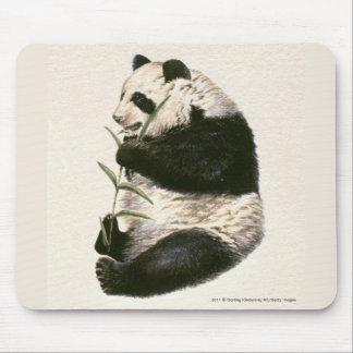 Illustration de panda géant alimentant sur le bamb tapis de souris