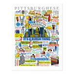 Illustration de Pittsburghese d'amusement de Cartes Postales