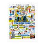 Illustration de Pittsburghese d'amusement de langu Cartes Postales