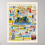 Illustration de Pittsburghese d'amusement de langu Posters