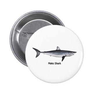 Illustration de requin de Mako de Shortfin Badges