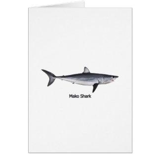 Illustration de requin de Mako de Shortfin Carte De Vœux