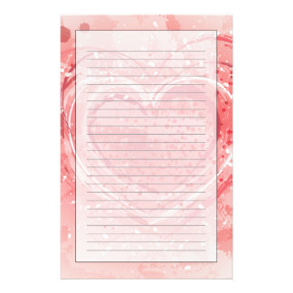 Illustration de Saint-Valentin Papier À Lettre Customisé