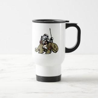 Illustration de soldats de la cavalerie de tempête mug de voyage en acier inoxydable