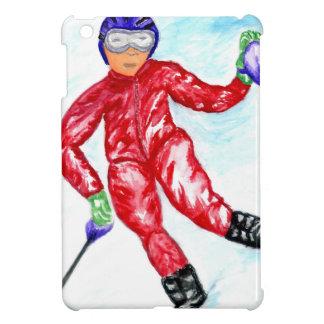 Illustration de sport de skieur coque iPad mini