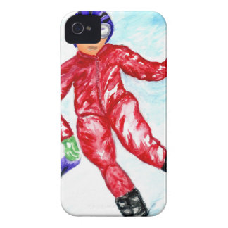Illustration de sport de skieur coques Case-Mate iPhone 4