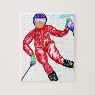 Illustration de sport de skieur puzzle