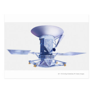 Illustration de vaisseau spatial de Magellan Carte Postale