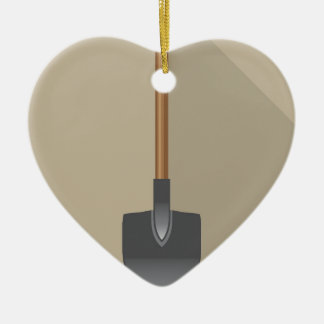 Illustration de vecteur de pelle ornement cœur en céramique
