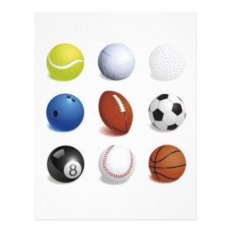 Illustration de vecteur des boules de sport prospectus 21,6 cm x 24,94 cm