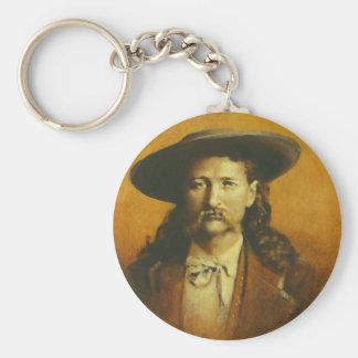 Illustration de Wild Bill Hickok Porte-clé Rond