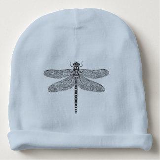 Illustration d'encre de libellule bonnet de bébé