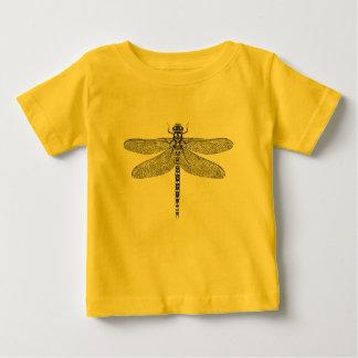 Illustration d'encre de libellule t-shirt pour bébé