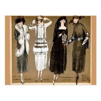 Illustration des années 1920 de couture de Haute Cartes Postales