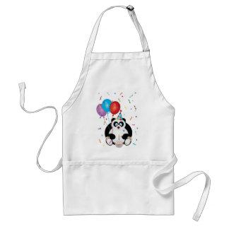 Illustration d'ours panda de joyeux anniversaire tablier