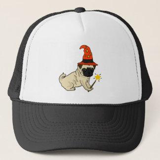 Illustration drôle de Halloween de sorcière ou de Casquette