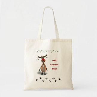 Illustration drôle de renne de Noël - sac