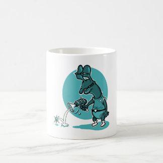 illustration drôle de style étranger stupide de mug