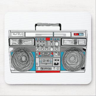 illustration du boombox 80s tapis de souris