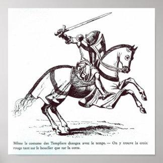 Illustration d'un chevalier Templar Posters