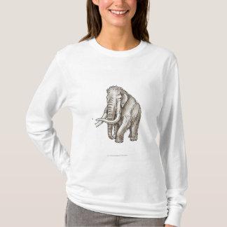 Illustration d'un mammouth t-shirt